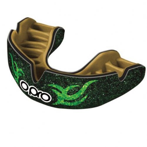 Opro Power-Fit Mouthguard - Galaxy Invasion Green